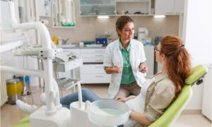 The dentist explains the dos and don'ts after surgery.